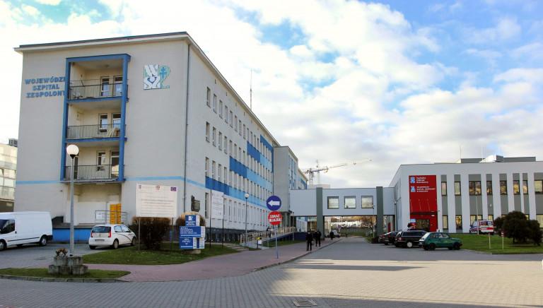 Budynek Wojewódzkiego Szpitala Zespolonego w Kielcach.