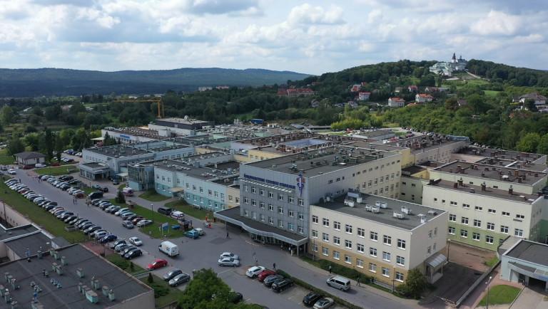 Świętokrzyskie Centrum Onkologii widok z drona
