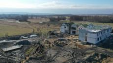 Budowa Ośrodka Edukacji Przyrodniczej na Ponidziu Umianowicach - widok z lotu ptaka