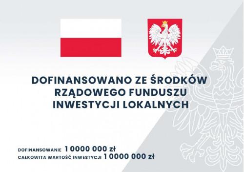 Logo Dofinansowano Ze środków Rządowego Funduszu Inwestycji Lokalnych