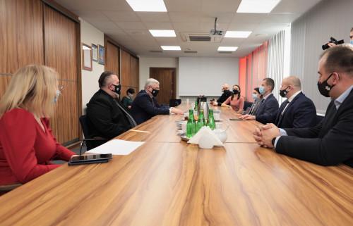 Spotkanie Marszałka Województwa Andrzeja Bętkowskiego Z Organizatorami Mistrzostw Bokserskich