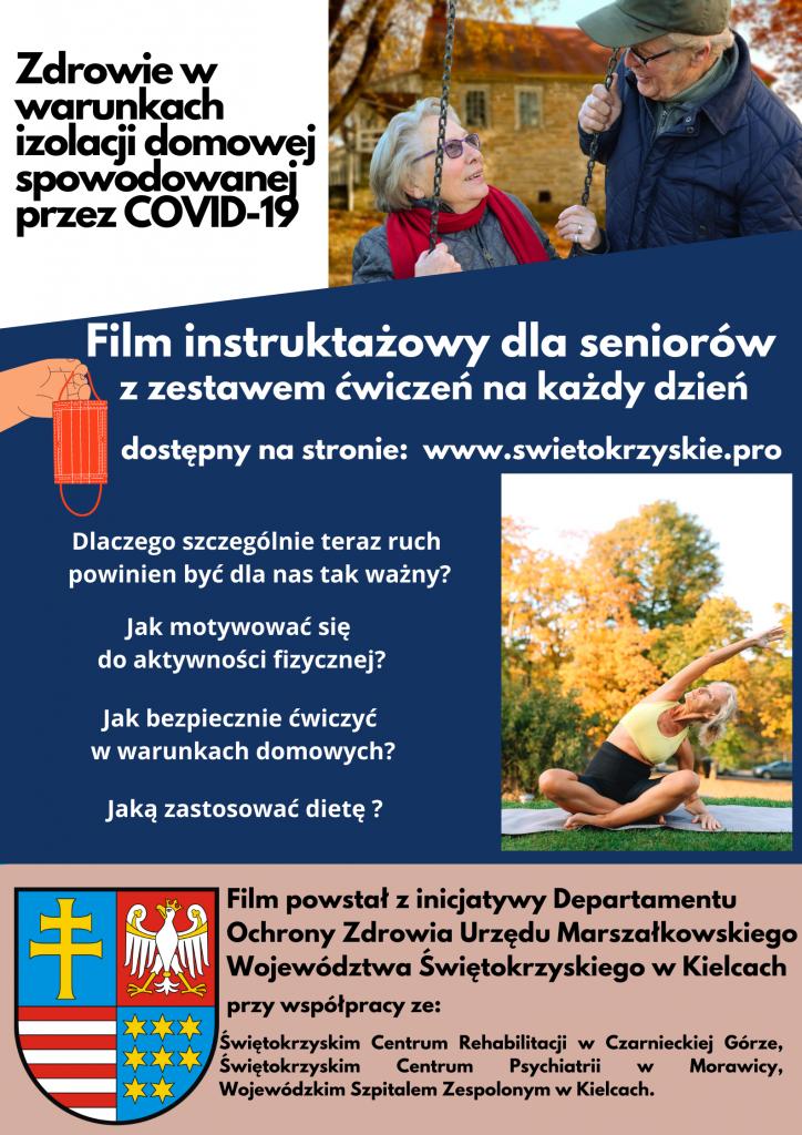 Plakat - Film instruktażowy dla seniorów z zestawem ćwiczeń na każdy dzień tygodnia
