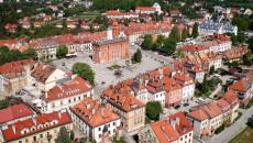 Sandomierz Widok Z Góry na rynek starego miasta
