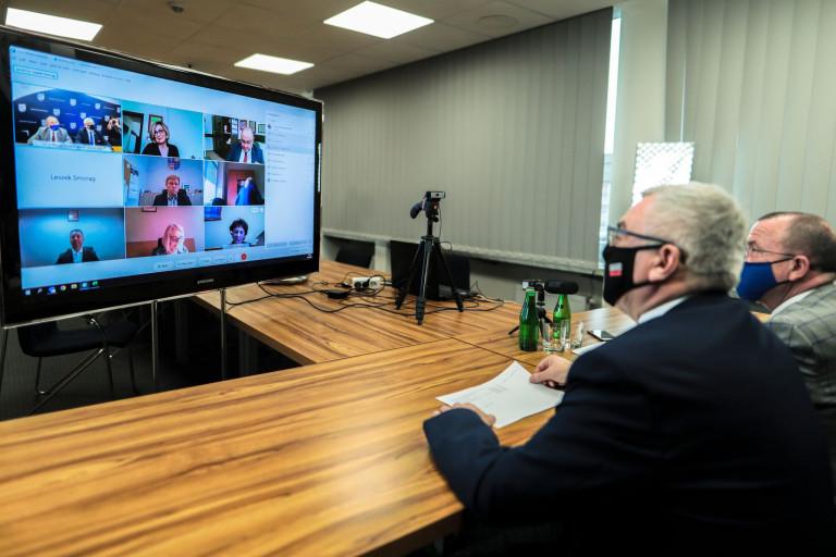 Spotkanie Marszałka Andrzeja Bętkowskiego I Wicemarszałka Marka Bogusławskiego Z Przedstawicielami Sektora Ochrony Zdrowia
