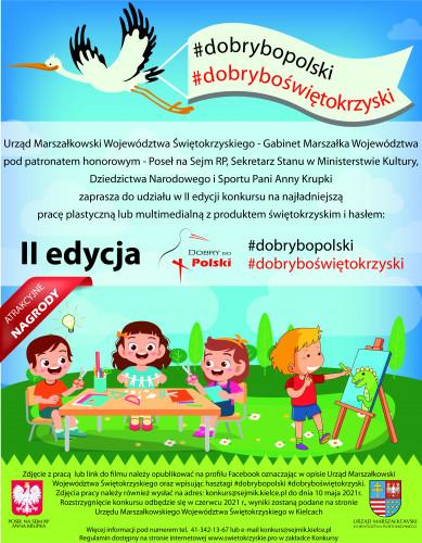 Plakat konkursu- Dobry Bo Polski