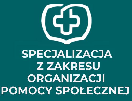 Specjalizacja z zakresu organizacji pomocy społecznej logo