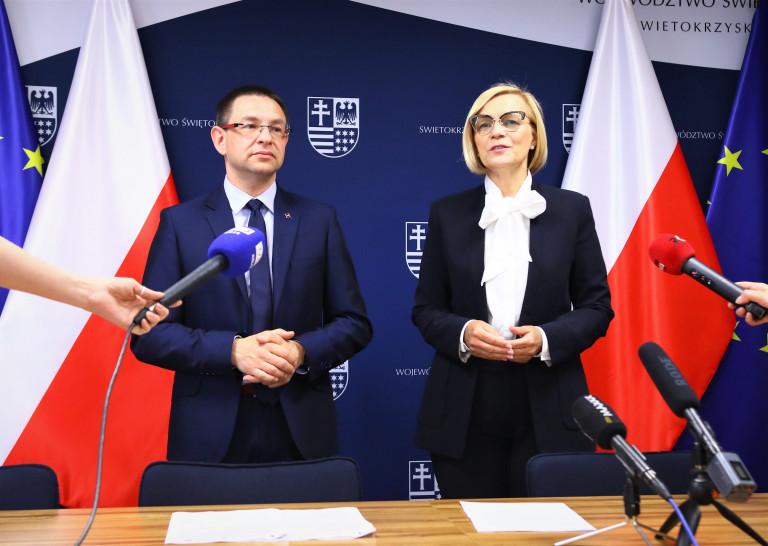 Wicemarszałek Renata Janik Oraz Prezes Paweł Łaski