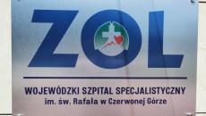 Tabliczka Z Napisem Wojewódzki Szpital Specjalistyczny W Czerwonej Górze