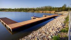 Przystań do cumowania na zbiorniku Lipowica w gminie Chęciny