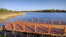 Fragment molo na zbiorniku Lipowica w gminie Chęciny