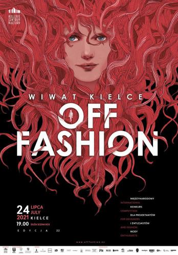 Ilustracja, kobieta z bujnymi gęstymi włosami w czerwonym kolorze. Dwudziesta druga edycja Off Fashion