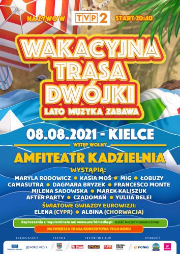 Wakacyjna Trasa Dwójki Kielce Plakat