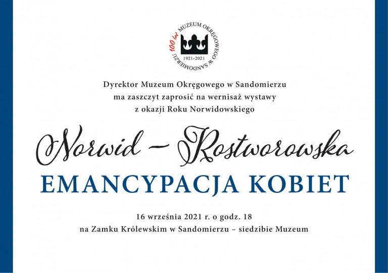 Rok Norwidowski W Muzeum Okręgowym W Sandomierzu
