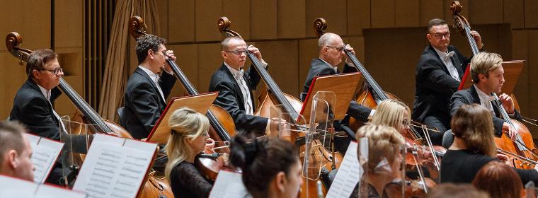 Muzycy Filharmonii Świętokrzyskiej Na Estradzie Podczas Koncertu