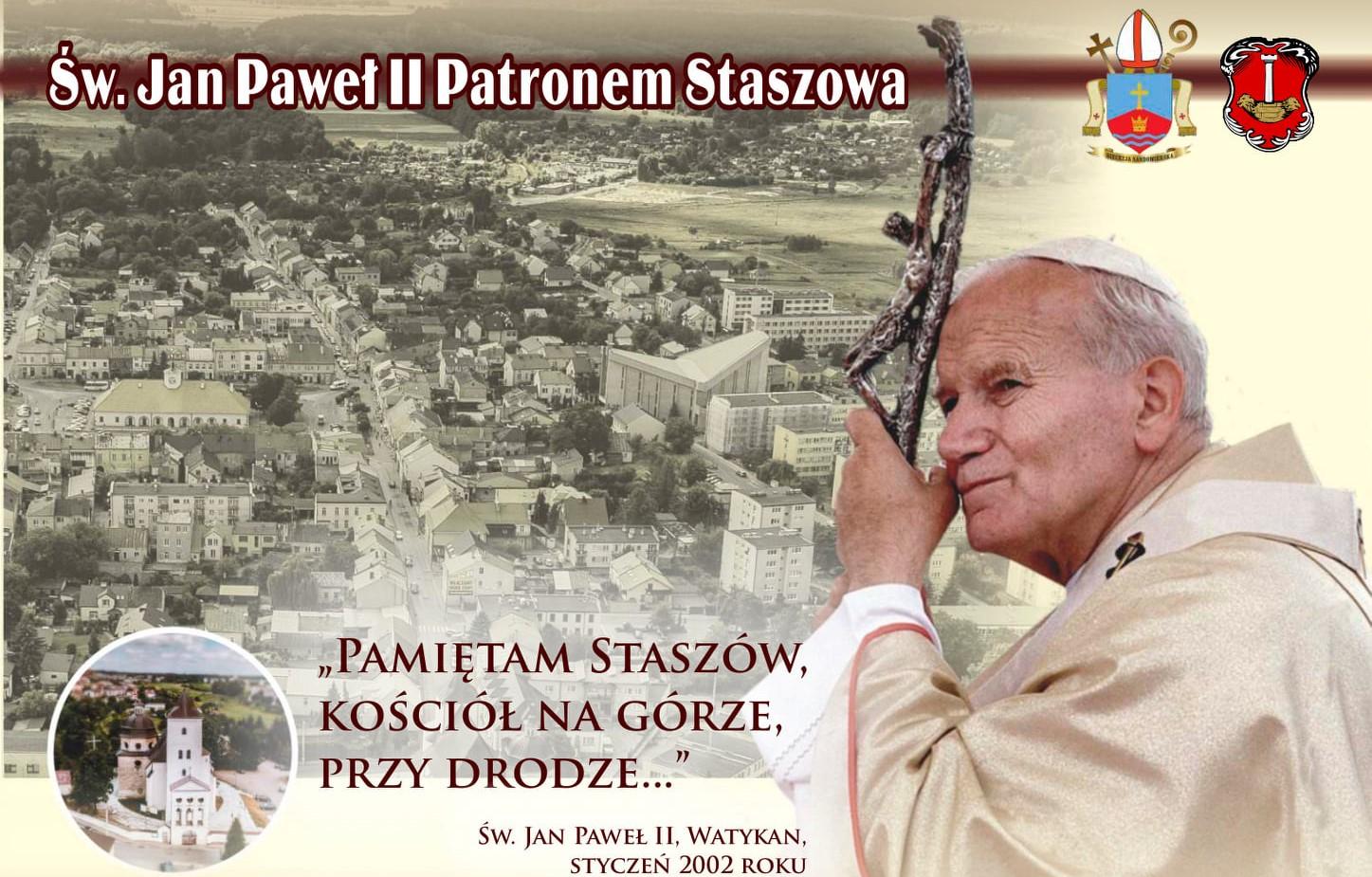 Plakat Uroczystości Ustanowienia Jana Pawła Ii Patronem Staszowa